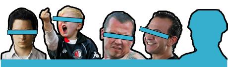 Vier vandalen voor 'epibreren'.