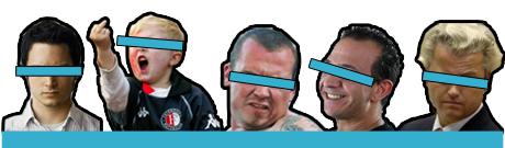 Vijf vandalen voor 'huldeblijk'